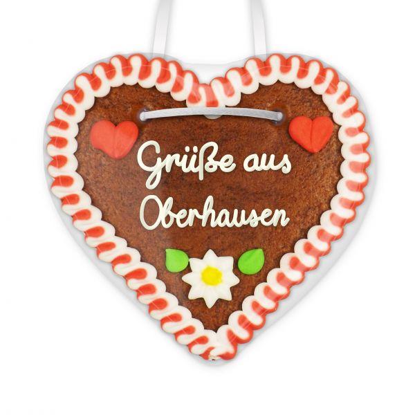 Lebkuchen Herz, 12cm - Grüße aus Oberhausen