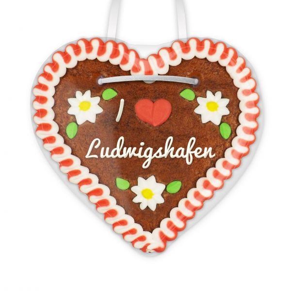 Lebkuchenherz, 12cm - I love Ludwigshafen