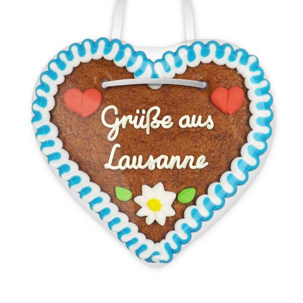 Lebkuchenherz, 12cm - Grüße aus Lausanne