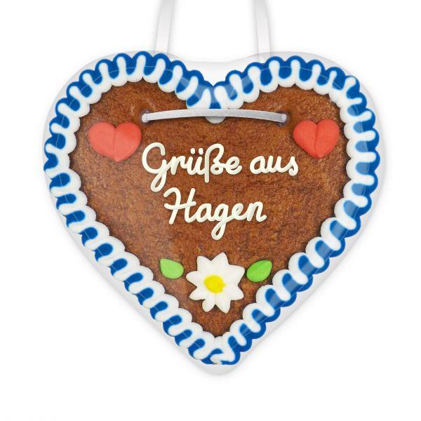 Lebkuchen Herz, 12cm - Grüße aus Hagen