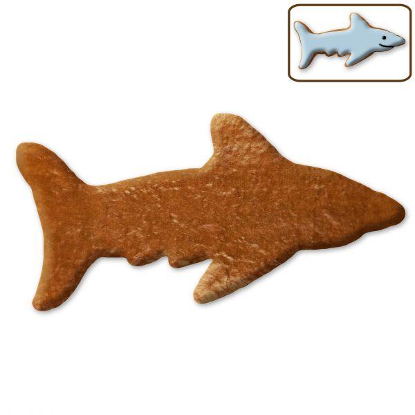 Lebkuchen Hai Rohling ohne Alles - 12cm