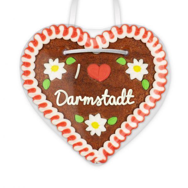 I love Darmstadt - Lebkuchenherz 12cm