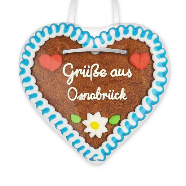 Lebkuchenherz, 12cm - Grüße aus Osnabrück