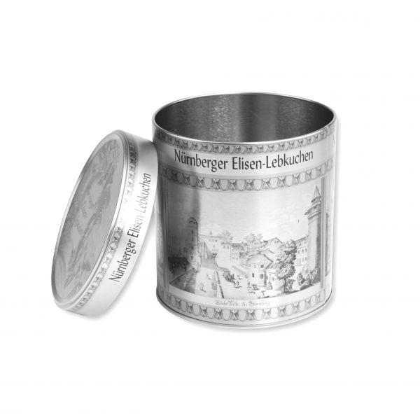 Lebkuchendose - Silber - Motiv: Nürnberg - leer