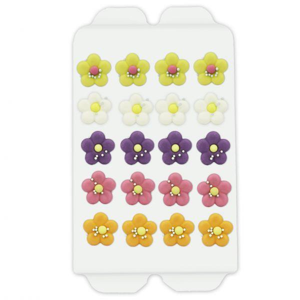 Zuckerdekor - Pastell-Blumen - 20 Stück - ca. 15mm