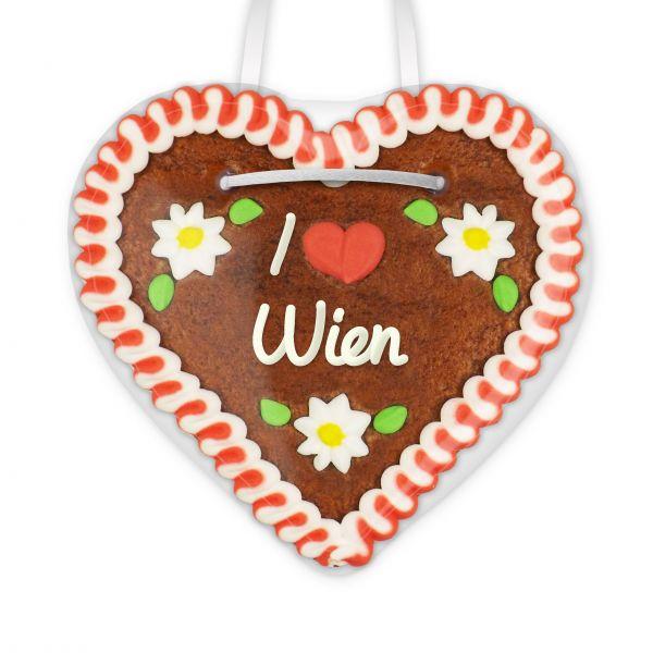 Lebkuchen Herz, 12cm - I love Wien