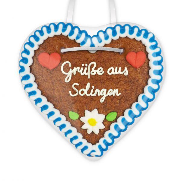 Lebkuchen Herz, 12cm - Grüße aus Solingen