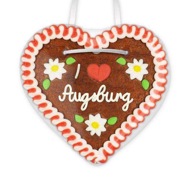 I love Augsburg - Lebkuchenherz 12cm
