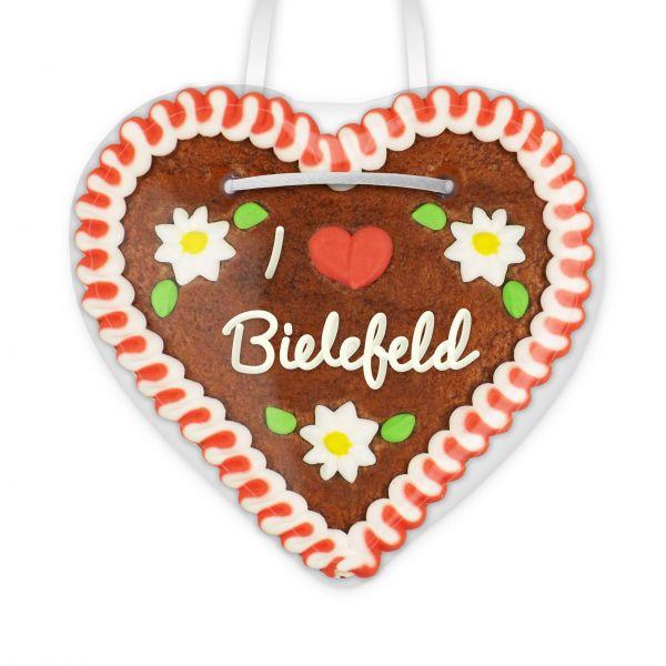 Lebkuchenherz, 12cm - I love Bielefeld