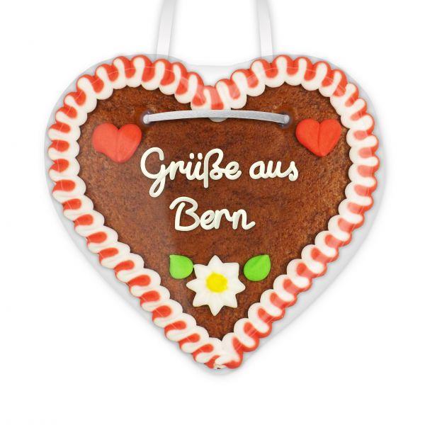 Lebkuchen Herz, 12cm - Grüße aus Bern