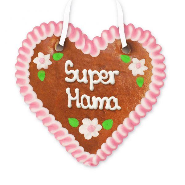Lebkuchenherz 12cm - Super Mama