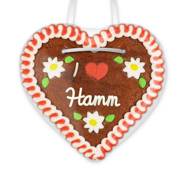 Lebkuchenherz, 12cm - I love Hamm