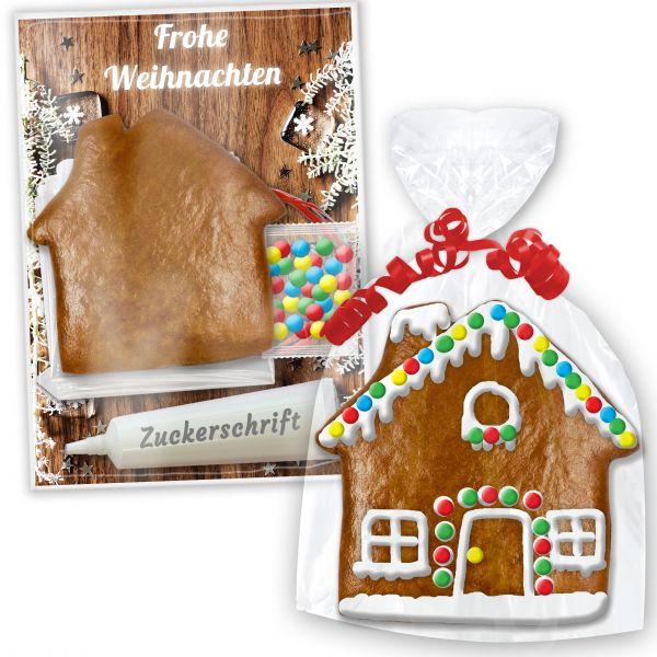 Lebkuchenhaus Bastelset - zum Verzieren mit Anleitung - Weihnachten Edition