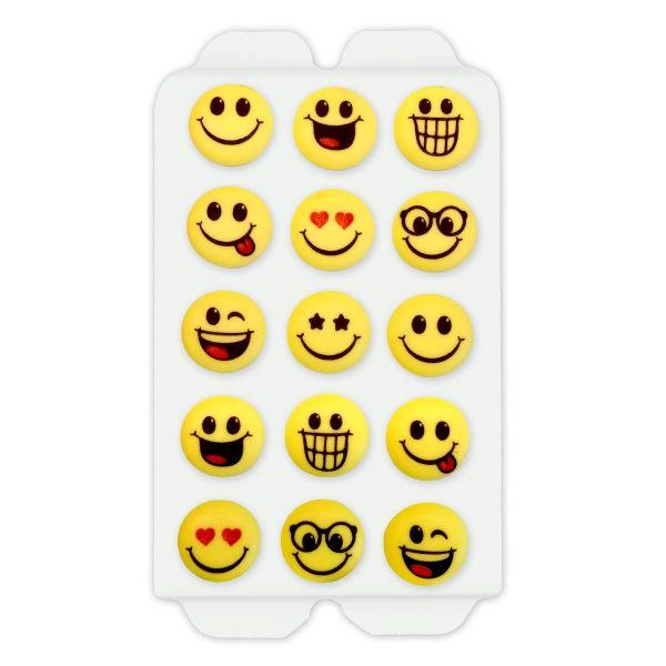 Zuckerdekor - Emoji Motive - 15 Stück - ca. 2cm