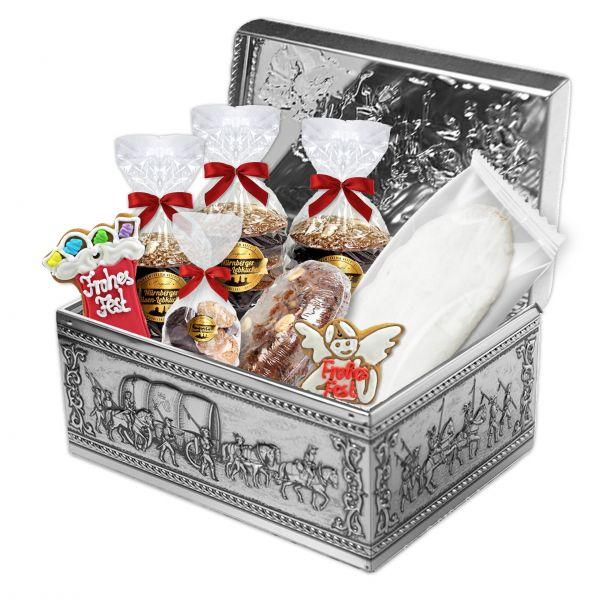 Lebkuchen Truhe - Weihnachtsträume - gefüllt - ca. 2,8 kg