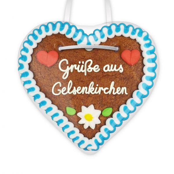Lebkuchenherz, 12cm - Grüße aus Gelsenkirchen