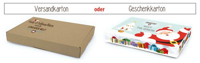 Karton-Optionen - 2-seitig bis 30% bedruckt oder 100% vollfächig alle Außenseiten