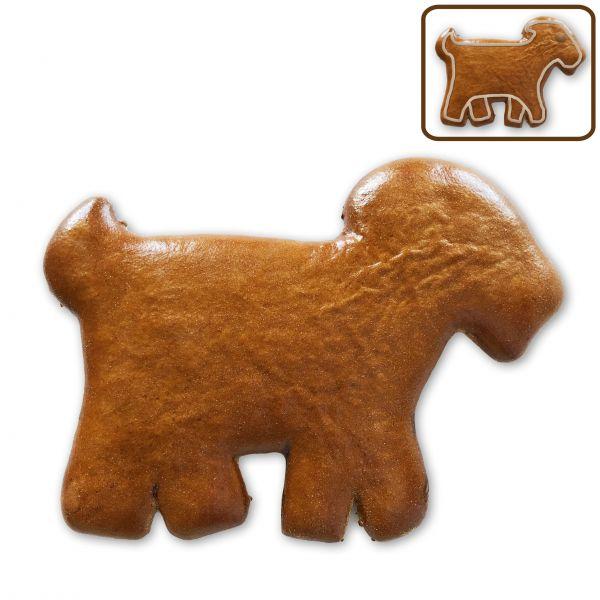 Lebkuchen Ziege Rohling ohne Alles - 12cm
