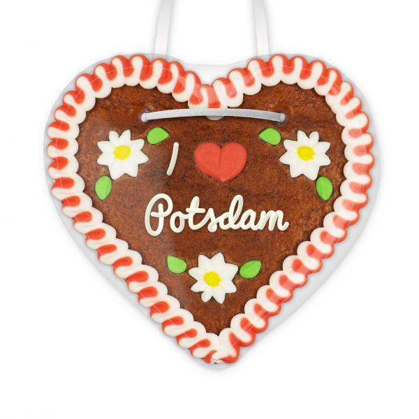 Lebkuchenherz, 12cm - I love Potsdam