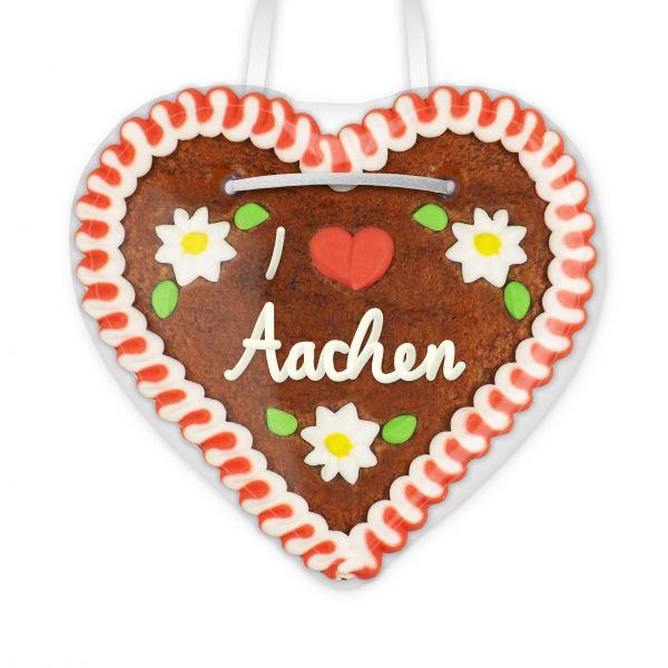 Lebkuchenherz, 12cm - I love Aachen