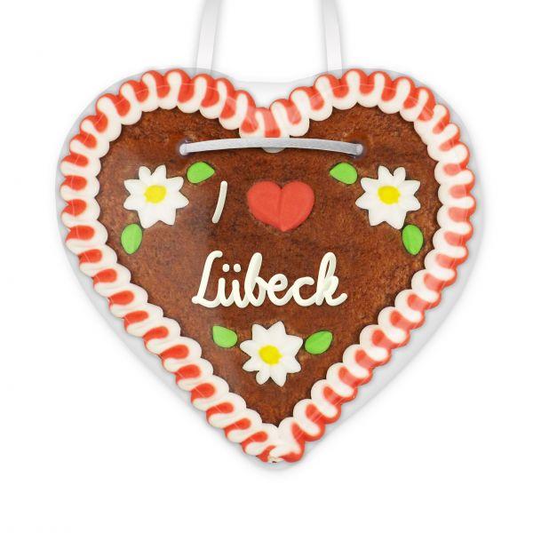 I love Lübeck - Lebkuchenherz 12cm