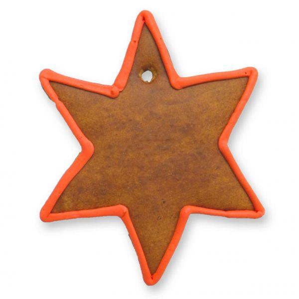 Lebkuchen Rohling Stern - roter Rand - Ø15cm