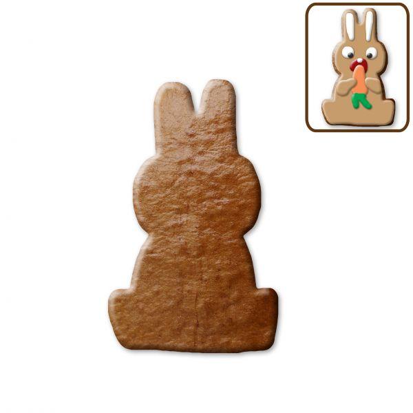Lebkuchen Osterhase (sitzend) Rohling ohne Alles - 12cm