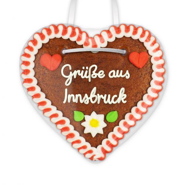 Lebkuchenherz, 12cm - Grüße aus Innsbruck