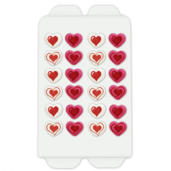 Zucker Herzen - 24 Stück - ca. 19mm