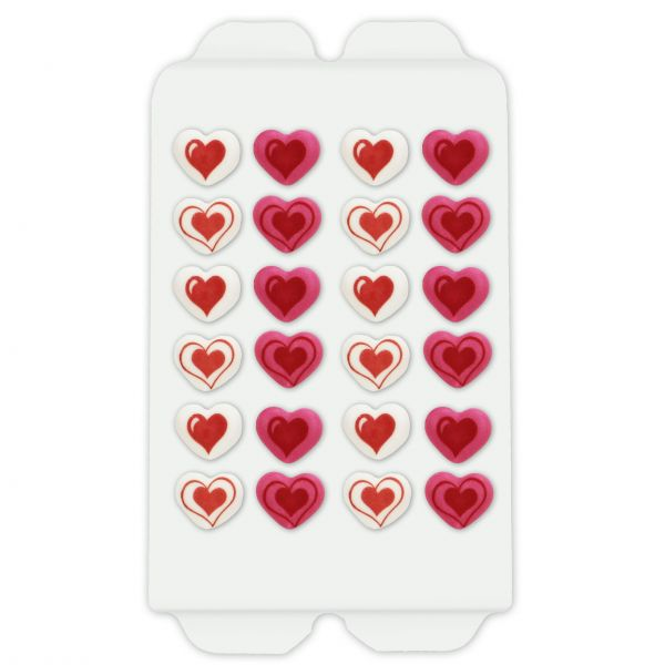 Zuckerdeko - Süße Herzen - 24 Stück