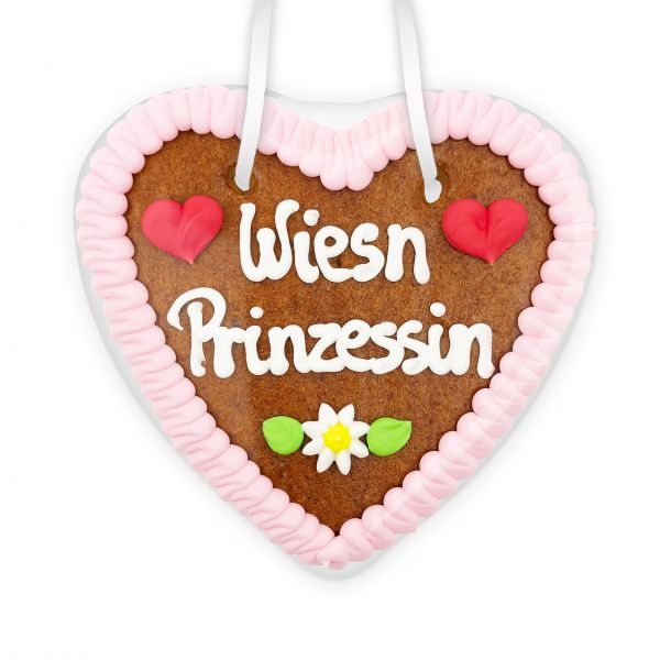 Lebkuchenherz 14cm - Wiesn Prinzessin