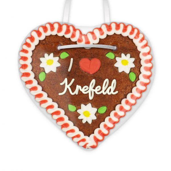 I love Krefeld - Lebkuchenherz 12cm