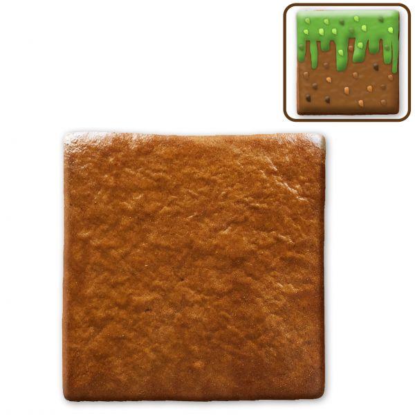 Lebkuchen Quadrat Rohling - ohne Alles - ca. 8 x 8cm