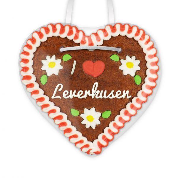 Lebkuchenherz, 12cm - I love Leverkusen