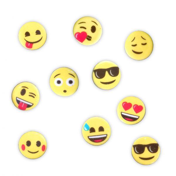 Zuckerpapier Aufleger - Emoji - sortiert 100 Stück - ca. 30mm