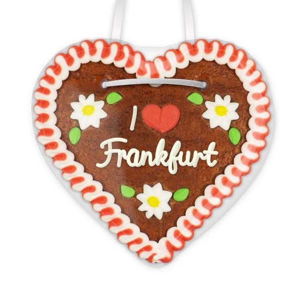 Lebkuchen Herz, 12cm - I love Frankfurt