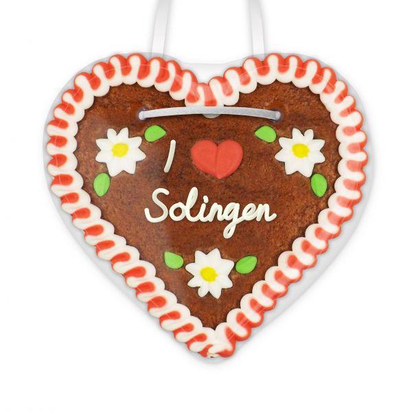 Lebkuchenherz, 12cm - I love Solingen