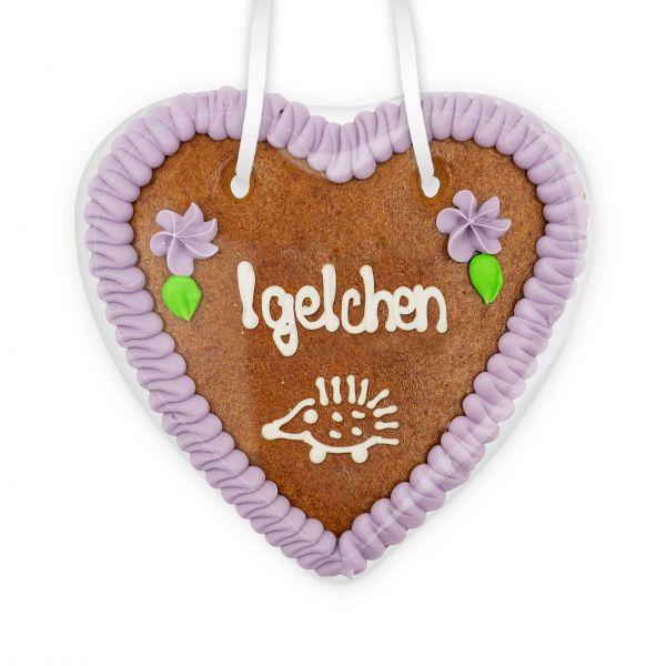 Lebkuchenherz 14cm - Igelchen