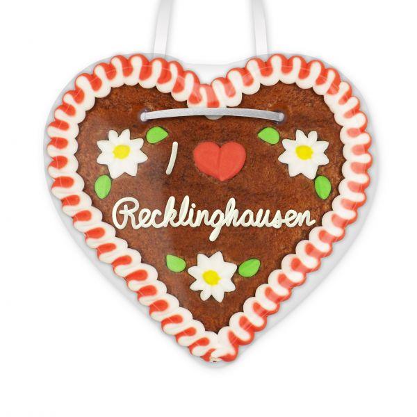 Lebkuchenherz, 12cm - I love Recklinghausen