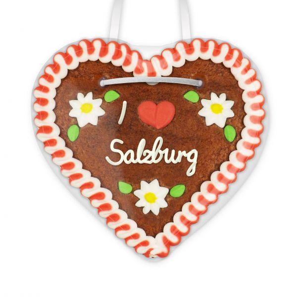 Lebkuchenherz, 12cm - I love Salzburg