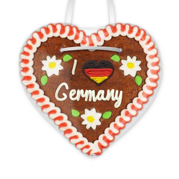 Lebkuchen Herz, 12cm - I love Germany