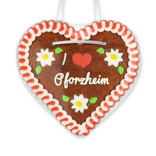 Lebkuchenherz, 12cm - I love Pforzheim