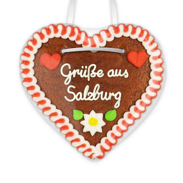 Lebkuchen Herz, 12cm - Grüße aus Salzburg