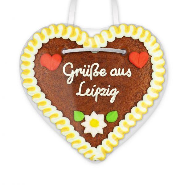 Lebkuchen Herz, 12cm - Grüße aus Leipzig