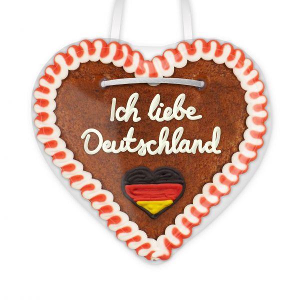 Lebkuchen Herz, 12cm - Ich liebe Deutschland