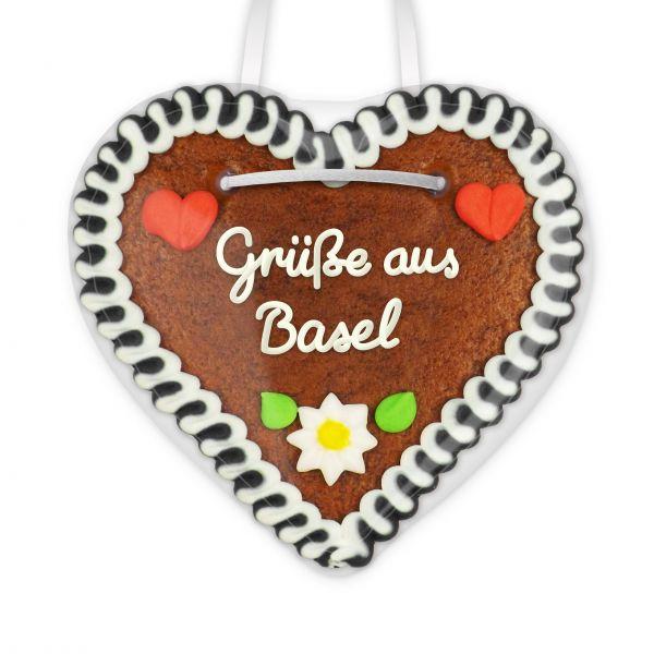 Lebkuchen Herz, 12cm - Grüße aus Basel