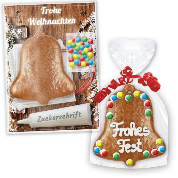 Bastelsets mit Lebkuchen Glocke zum selbst Verzieren - Weihnachten Edition