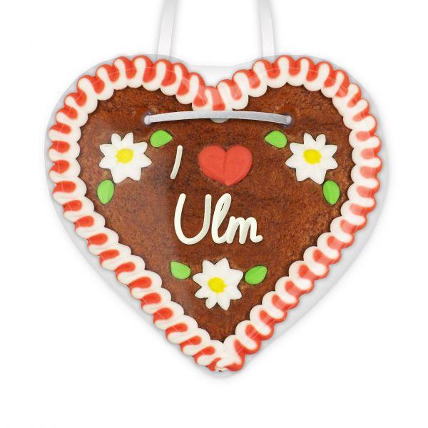 Lebkuchenherz, 12cm - I love Ulm