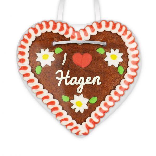Lebkuchenherz, 12cm - I love Hagen