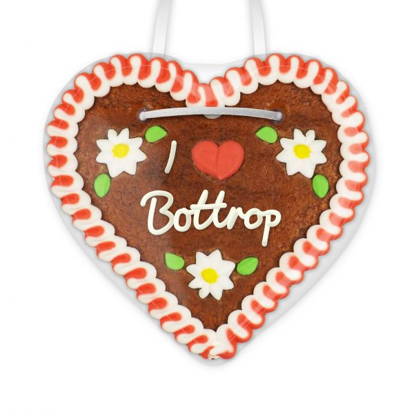 Lebkuchenherz, 12cm - I love Bottrop